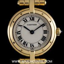 Cartier 18k Yellow Gold Silver Roman Dial Vendome Ladies...