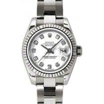 Rolex Lady-Datejust 26 179179-WHTDO White Diamond Fluted White...