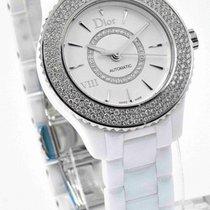 Dior VIII White Ceramic CD1235E5C001 Automatic Watch - Diamond...