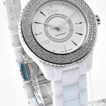 Dior VIII White Ceramic CD1235E5C001 Automatic Watch - Diamond...