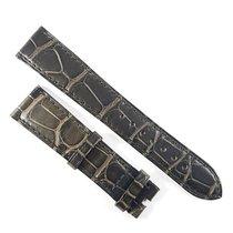 Omega 19 / 16mm Alligator leather strap grey 97211073