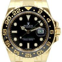 Rolex GMT-Master II 116718LN 18k Yellow Gold Ceramic Black...