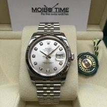 Rolex 116234 Datejust Silver Diamond Dial 36mm [NEW]