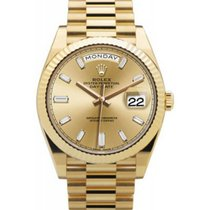 Rolex President 228238 Day Date 40 Yellow Gold Champagne...