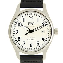 IWC Pilots Stainless Steel White Automatic Iw327002