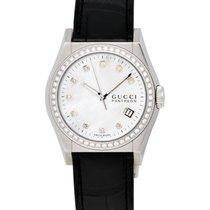 Gucci Pantheon Diamond Mother of Pearl Ladies Watch – YA115405