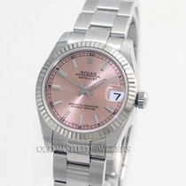 Rolex Mid Size Datejust 178274 Steel Pink Stick