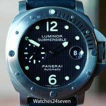 Panerai PAM 25 Luminor Submersible Hobnail Dial Titanium 44mm