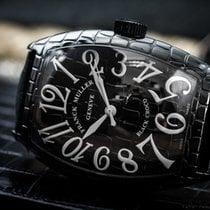 Franck Muller Black Croco Conquistador Ltd. xxx/300 steel/PVD