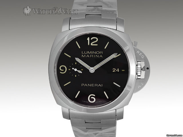 Panerai PAM 328 M - Luminor 1950 Marina 3-Days Automatic - 44mm Stainless Steel - (w/New-Style S/S Bracelet)