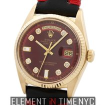 Rolex Day-Date 18k Yellow Gold Red Diamond Dial  Ref. 1803
