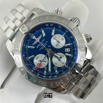 Breitling Blue Dial Chronomat 44 GMT Stainless Steel