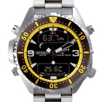 Chris Benz Depthmeter Digital CB-D200-YS-MB Herrenchronograph...