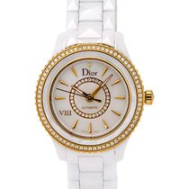 Dior VIII White Ceramic and 18k Rose Diamond Ladies Watch...