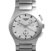 Longines Women's Stainless Steel Quartz Chronograph Watch...
