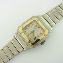 Cartier Santos Galbée Moonphase Ref. 119901 Stahl/ Gold Quarz