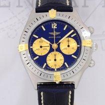Breitling Callisto Chronograph Lemania 1873 blue Stahl Gold...