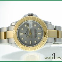 Rolex Steel Gold Yachtmaster Lady 29 mm grey
