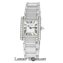 Cartier Tank Francaise 2403 18K White Gold Diamond Quartz 20MM