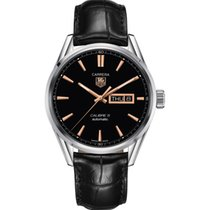 TAG Heuer Carrera Calibre 5 Day-Date  Black Dial, Rose Gold...
