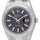 Rolex Datejust II : 116300 black dial on heavy Oyster bracelet...