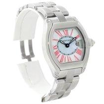 Cartier Roadster Ladies Mother Of Pearl Dial Steel Watch W6206006