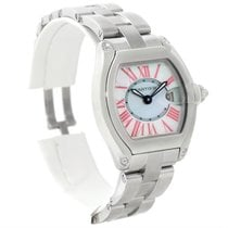 Cartier Roadster Ladies Mother Of Pearl Dial Steel Watch W6206006
