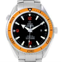 Omega Seamaster Planet Ocean Xl Orange Bezel Mens Watch...
