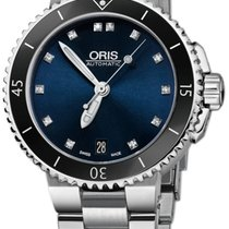 Oris Aquis Date Diamonds 36mm 01 733 7652 4195-07 8 18 01P