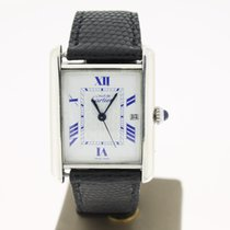 Cartier Must Silver White With BlueRoman Dial (BOX1999) 26mm