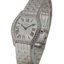 Cartier WA501011 Tortue Ladies Small Size in White Gold with...