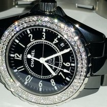 Chanel J12 Ceramic Automatic 38 MM Diamonds