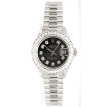 Rolex 69179 Lady's Presidential in 18K White Gold with...