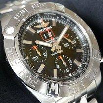 Breitling Ss 44mm Chronomat Blackbird Black Dial Bb71 Pilot...