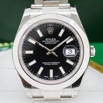 Rolex 116300 Datejust II SS Black Dial UNWORN (25492)