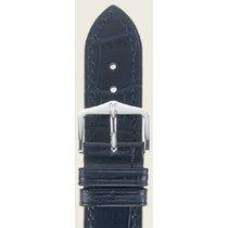 Hirsch Duke Lederarmband blau L 01028080-2-18 18mm