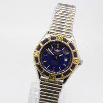 Breitling Lady J Blau Stahl Gold D52065