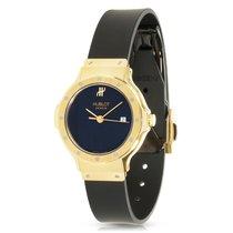 Hublot Classic 18K Yellow Gold Quartz Watch w/Rubber Strap 1395.3