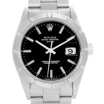 Rolex Date Stainless Steel Black Dial Automatic Mens Watch 15210