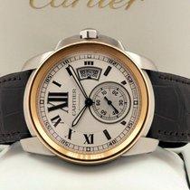 Cartier Calibre de Gold Steel Cream Roman Dial 42 mm (Full Set)