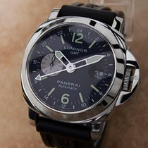 Panerai Luminor Gmt 43mm Automatic Rubber Strap Ocean Chronome...