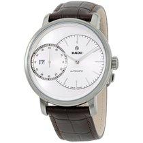 Rado Diamaster White Dial Brown Leather Strap Men's Watch...