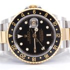 Rolex Mens 18K/SS GMT-Master II - Black Dial - 16713