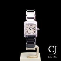 Cartier 18ct White Gold Ladies Tank Francaise Diamond
