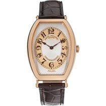 Patek Philippe Gondolo Men's Rose Gold Watch Brown Leather...
