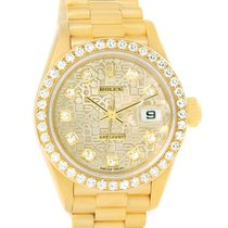 Rolex President Datejust Yellow Gold Jubilee Dial Diamond...