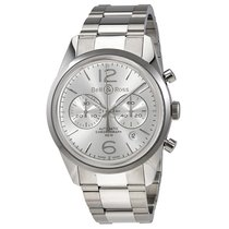 Bell & Ross Vintage Officer Silver Dial Automatic Men'...