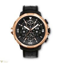IWC Aquatimer Perpetual Calendar Black Dial Red Gold Men's...