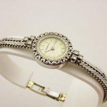 Zenith lady oro bianco 18kt braccialato con brillanti anni 70