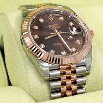 Rolex Datejust 41mm 126331 Jubilee 18k Rose Gold /ss Diamond...
